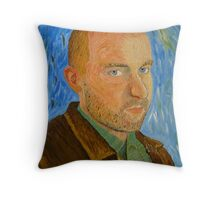 Self-Portrait with Leather Jacket Throw Pillow