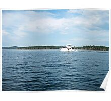 Boating on the Lake Poster