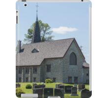 Small town church with cemetery iPad Case/Skin