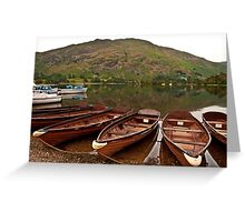 Ullswater on a warm summers evening Greeting Card