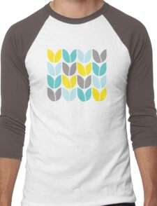 Tulip Knit (Aqua Gray Yellow) Men's Baseball ¾ T-Shirt