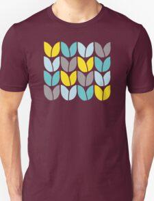 Tulip Knit (Aqua Gray Yellow) Unisex T-Shirt