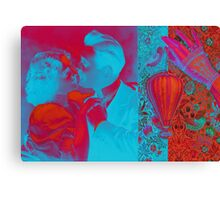 Happy Couple Abstract Hard Journal Cover Canvas Print