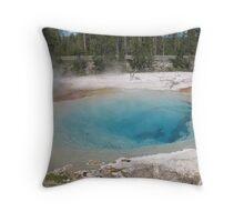 Yellowstone Hot Tub Throw Pillow