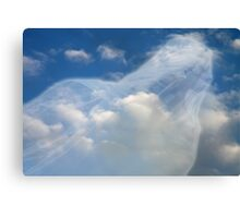 Angel watching over me Hard Journal Cover Canvas Print