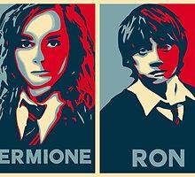 Hermione and Ron by husavendaczek