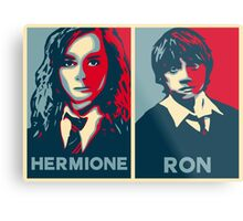 Hermione and Ron Metal Print
