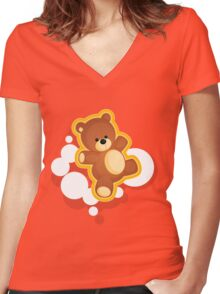 Ted Women's Fitted V-Neck T-Shirt