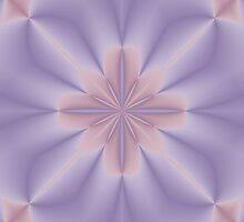 Pink and Lilac 3D Flower Two by Lena127