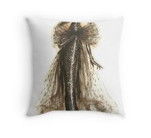 Fashion Sketch of Couture Gown Throw Pillow