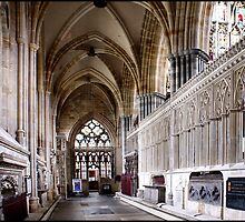 Exeter Cathedral Interior - # 1 by Jazzdenski
