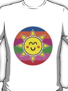 Hello Sunshine / Rainbow Background T-Shirt