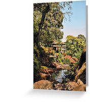 Temple Bathing Area Greeting Card