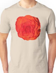 Red Begonia Flower Unisex T-Shirt