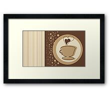 Coffee Cup Time Modern Illustration Framed Print