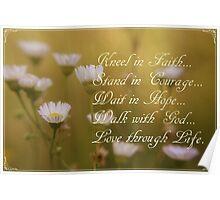 Kneel In Faith Poster