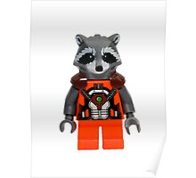 LEGO Rocket Raccoon Poster