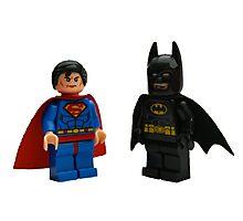 LEGO Superman & Batman Photographic Print