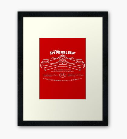 Hypersleep Framed Print