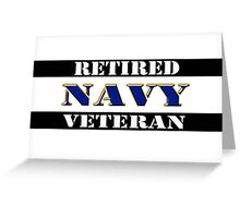 Retired Navy Veteran Greeting Card