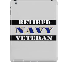 Retired Navy Veteran iPad Case/Skin