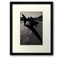 A Fishy Tail Framed Print