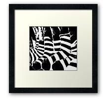 zebra crossing Framed Print