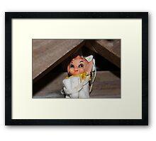 Where's My Elf? Framed Print