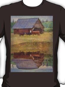 Cow, Calves and Cattle Shed T-Shirt