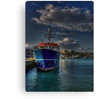 Una nave al porto  Canvas Print