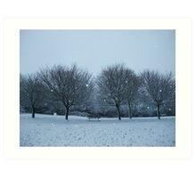 Snowy Scene, Honiton, January 2010 Art Print