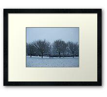 Snowy Scene, Honiton, January 2010 Framed Print