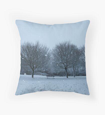Snowy Scene, Honiton, January 2010 Throw Pillow