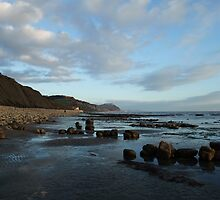 Chilly Charmouth Scene, Dorset by k84ddesigns