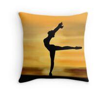 Ballet Silhouette Throw Pillow