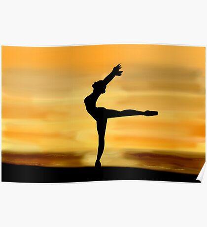 Ballet Silhouette Poster