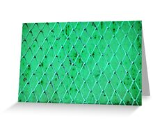 Turquoise Vintage Iron Net Greeting Card