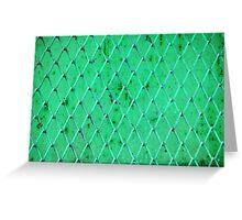 Turquoise Vintage Iron Net Greeting Card