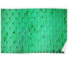 Turquoise Vintage Iron Net Poster