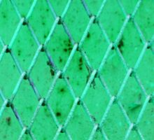 Turquoise Vintage Iron Net Sticker