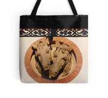 Two Horses In The Wall Tote Bag