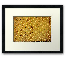 Background of vintage iron net Framed Print