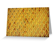 Background of vintage iron net Greeting Card