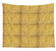 Background of vintage iron net Wall Tapestry