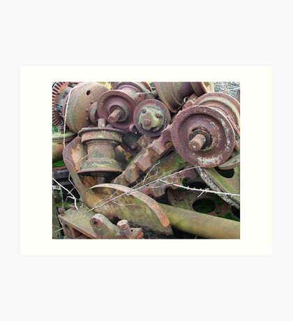 farmyard scrap Art Print