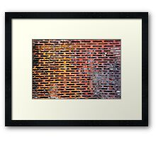 Old rusted metal background in New York, USA Framed Print