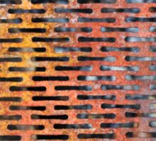 Old rusted metal background in New York, USA Sticker