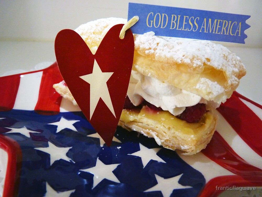 """""""God Bless America Puff Pastry"""" by franticflagwave"""