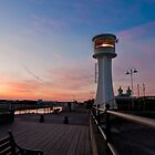 Littlehampton Lighthouse at dusk by Kevin  Poulton