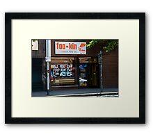 Foo-Kin Framed Print